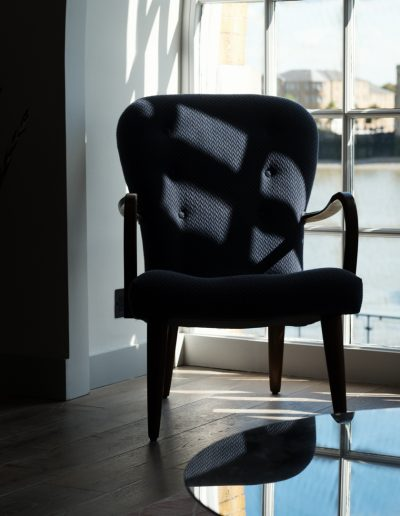armchair with river view